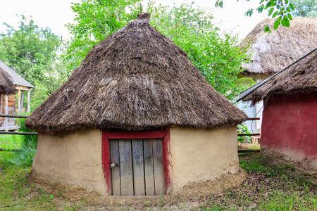 Old barn in the ukrainian village