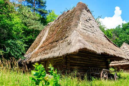 Old barn in the ukrainian village Stock fotó