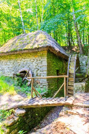 Old watermill in Pyrohiv (Pirogovo) village near Kiev, Ukraine