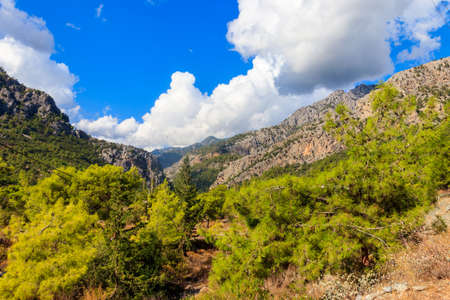 View of the Taurus mountains in Antalya province, Turkey