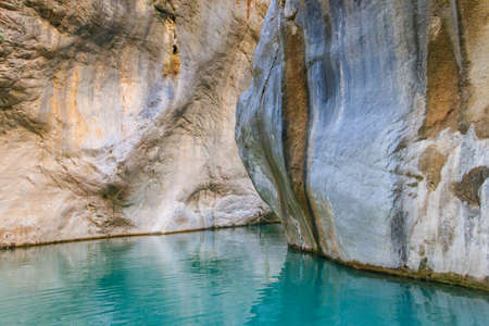 View of Goynuk canyon in Antalya province, Turkey Banco de Imagens