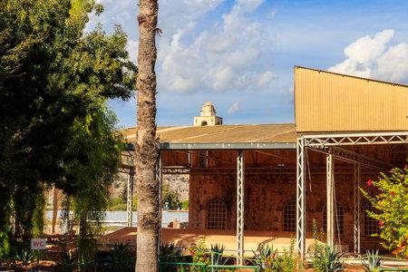 Reconstruction and restoration of facade of the Ancient Byzantine Church of Saint Nicholas the Wonderworker of Myra in Demre, Antalya province, Turkey