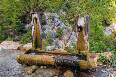 Drinking water source in Goynuk canyon in Antalya province, Turkey