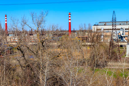 Industrial view of the old factory