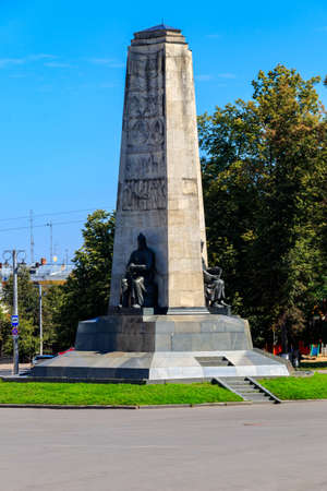 Monument to the 850th anniversary of Vladimir city on Cathedral Square in Vladimir, Russia