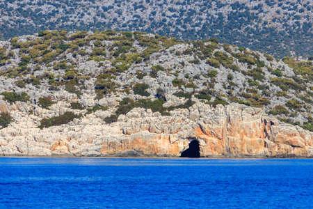 Pirate's cave near Kekova, Antalya province in Turkey