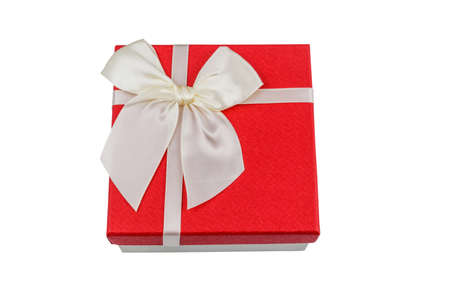 Gift box isolated on a white background. Top view
