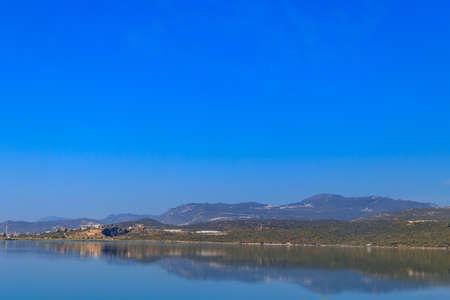 View of Beybelek lagoon in Antalya province, Turkey Archivio Fotografico