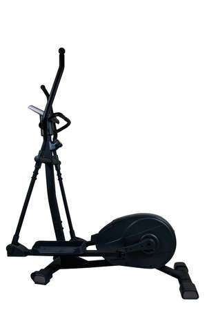 Elliptical trainer isolated on white background Banque d'images