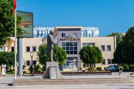 Demre, Turkey - October 20, 2020: Monument to Mustafa Kemal Ataturk in the center of Demre, Antalya province in Turkey