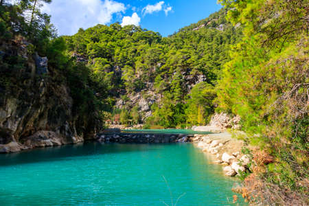 View of Goynuk canyon in Antalya province, Turkey 免版税图像