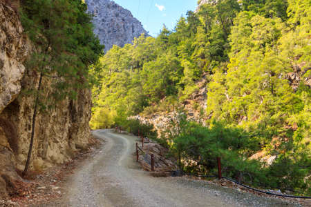 Dirt road in the Taurus mountains in Turkey