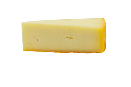 Piece of cheese isolated on white background 免版税图像