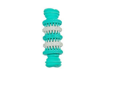 Teeth cleaning chew toy for dogs isolated on white background