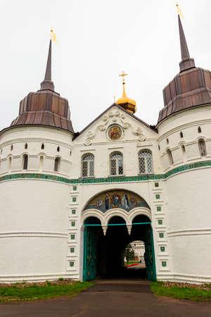 Holy gates in Vvedensky Tolga convent in Yaroslavl, Russia
