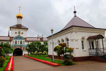 Vvedensky Tolga convent in Yaroslavl, Russia. Golden ring of Russia