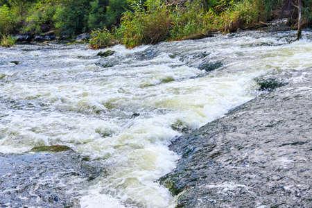 Rapids on the Inhulets river in Kryvyi Rih, Ukraine 免版税图像