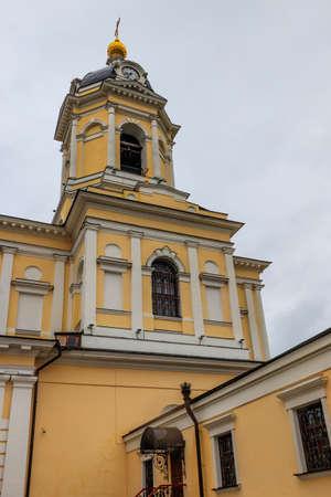 Vysotsky monastery in Serpukhov, Moscow oblast, Russia 免版税图像