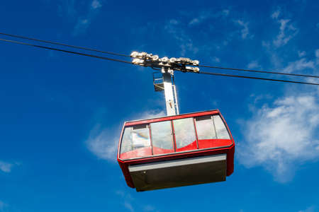 Cable car on ropeway leading to a top of Tahtali mountain in Antalya province, Turkey