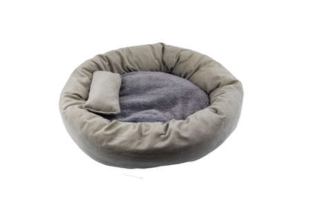 Comfortable pet bed isolated on white background