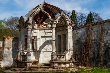 Old gazebo in Sharovka Palace park in in Kharkov region, Ukraine