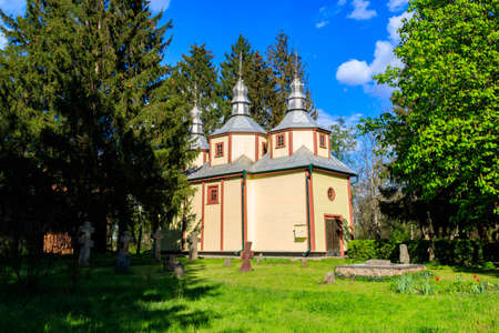 Old wooden church in Pereyaslav, Ukraine 免版税图像
