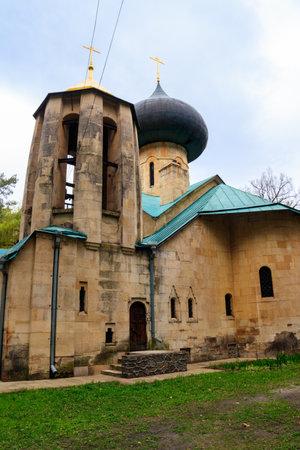 Transfiguration church (build in 1903) in Natalyevka estate complex in Kharkiv region, Ukraine