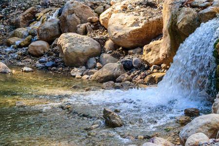 Small waterfall in Goynuk canyon in Antalya province, Turkey