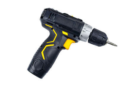 Cordless screwdriver isolated on white background