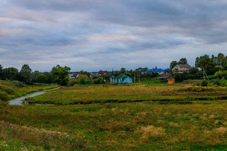View of Diveyevo village in Russia