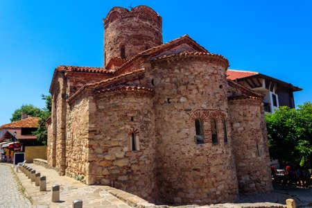 Church of St. John the Baptist in the old town of Nessebar, Bulgaria. 免版税图像