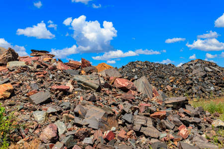 Large heap of stones near the iron ore quarry