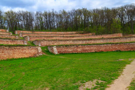 Singing terraces are garden terraces built at 19th century and fortified by brick walls in Kharkiv region, Ukraine Фото со стока