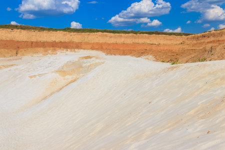View of the white sand hills Фото со стока