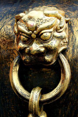 golden lion. Beijing. China