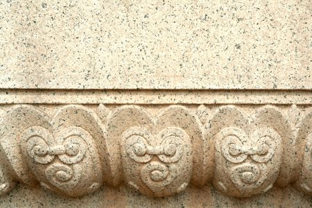 gestural: Stone carved pattern. China Stock Photo