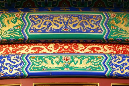 Architectural detail at the Temple of Heaven complex, Beijing.