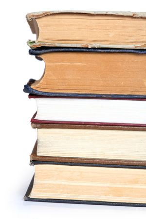 educating: Stack of old books