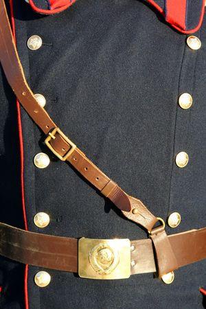 Uniform of the Soviet army with the Soviet symbolics