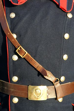 Uniform of the Soviet army with the Soviet symbolics