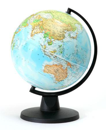 globe isolated on white background Stock Photo