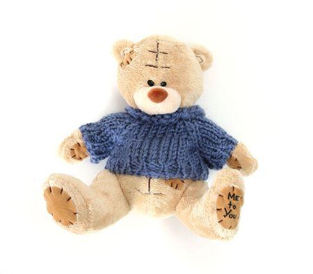 teddybeer op witte achtergrond