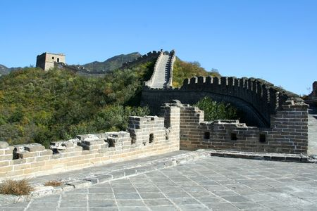 Great Wall of China. Beijing 版權商用圖片