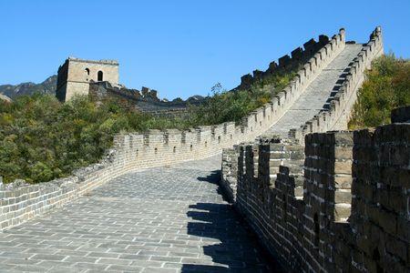 Grote Muur van China. Beijing Stockfoto