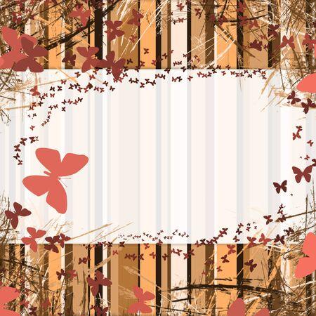 achtergrond met strepen frame met ruimte voor tekst. vlinder