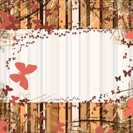 background with stripes frame with space for text. butterfly Standard-Bild