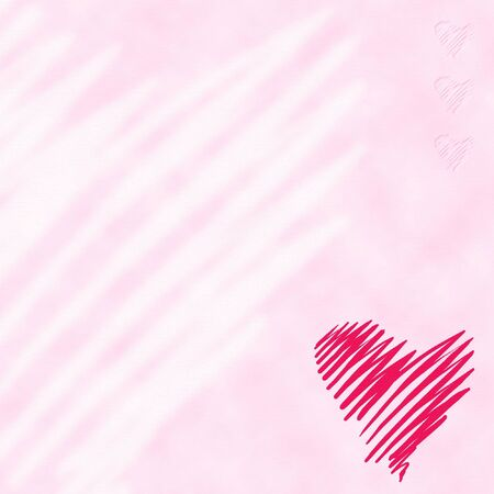 gently: Heart on gently pink background