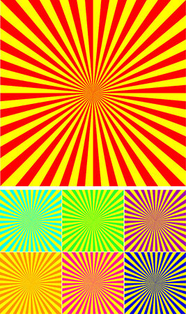 set of different colour rays vector background Vector