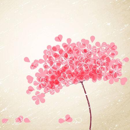 pink flower: pink flower on grunge background