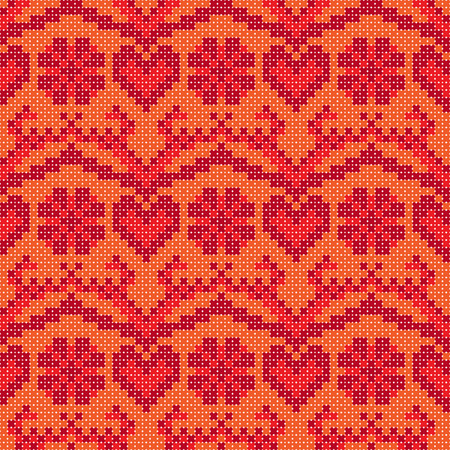 cross stitch: Cross stitch design seamless background